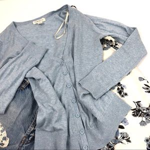 Forever 21 Light Blue Button Cardigan Size M